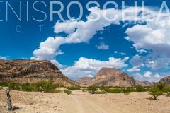 Panorama der Khowarib Schlucht, Kunene, Namibia / Panorama of the Khowarib Gorge, Kunene, Namibia